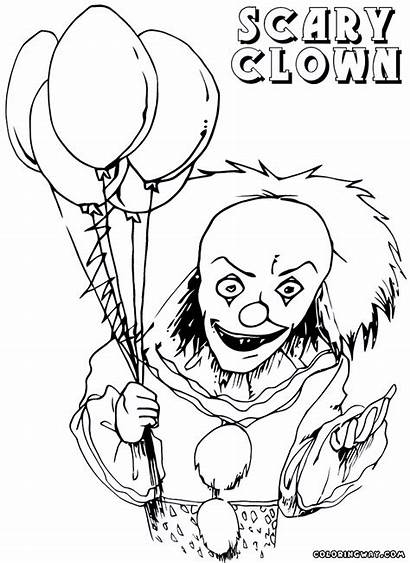 Scary Clown Coloring Pages Colorings Coloringway