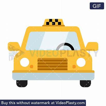 Taxi Icon Animated Cab Yellow Animation Nyc