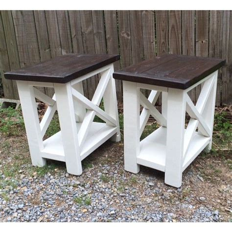 farmhouse style end tables smaller version of our rustic x end tables diy