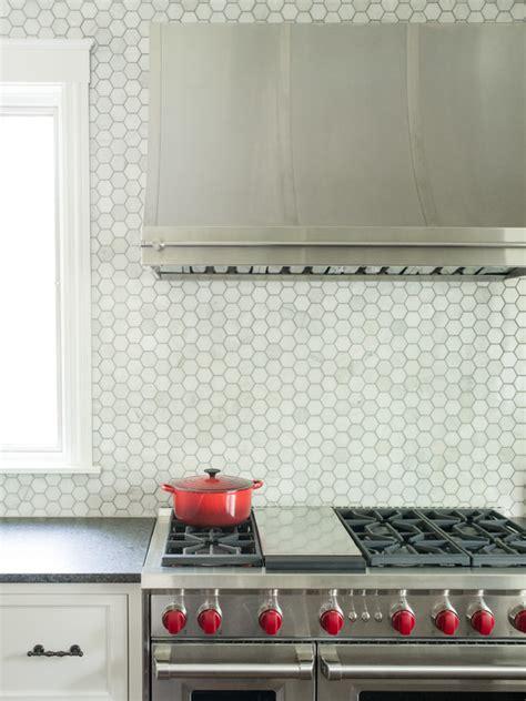 marble hex backsplash transitional kitchen kristin