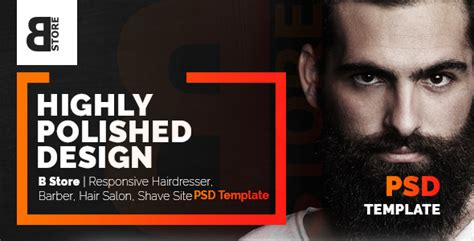 store responsive barbers hair salons psd template