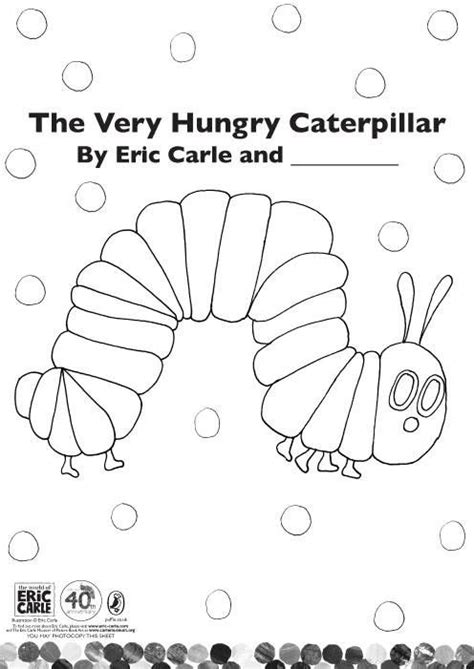 hungry caterpillar coloring page colouring sheets