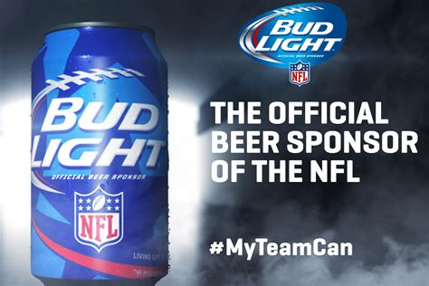 bud light football cans bud light releases new nfl team specific cans modern thrill