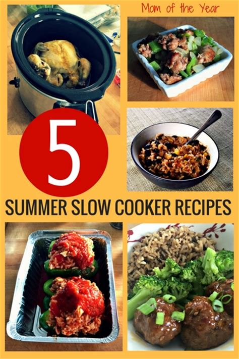 summer cooker recipes summer slow cooker recipes the mom of the year