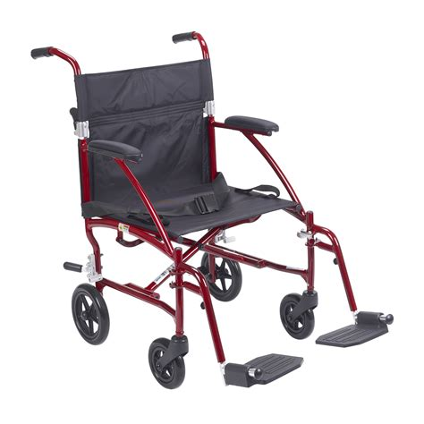 fly lite ultra lightweight transport wheelchair burgundy