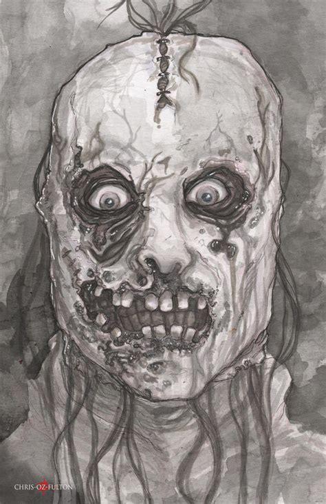bloody face american horror story asylum  chrisozfulton