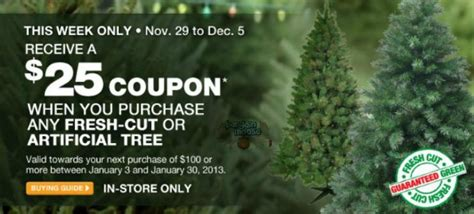 christmas tree coupons home depot home depot canada coupons sales bargainmoose canada part 7