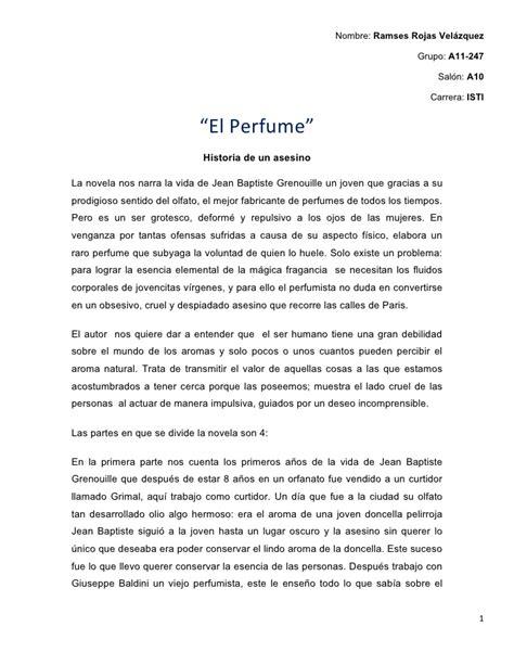 La Peste Resumen Corto by Resumen Novela El Perfume
