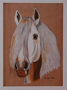 Pyrogravure Sur Bois Professionnel : t te de cheval blanc pyrogravure sur bois cr ation pyrogravure de mphlpp n 32 427 vue 4 957 ~ Nature-et-papiers.com Idées de Décoration