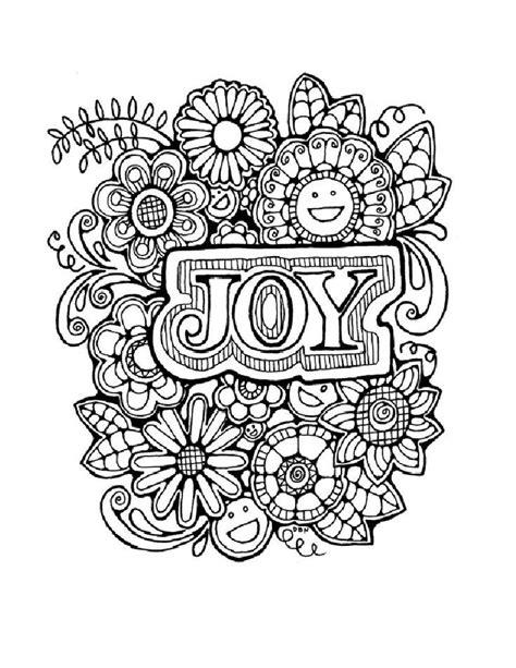 joy abstract doodle zentangle zendoodle paisley coloring