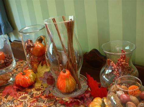 Fall Decorating With Hurricane Vases  Hoosier Homemade