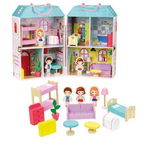 cuisine en bois janod maison de poupée en valise 6314 v achat vente maison