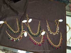 Gold Short Beaded Necklace ~ South India Jewels