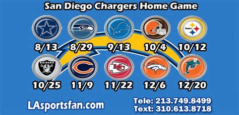 1000+ Ideas About San Diego Chargers Schedule On Pinterest
