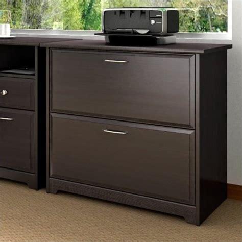espresso file cabinet wood bush cabot lateral file espresso oak filing cabinet ebay