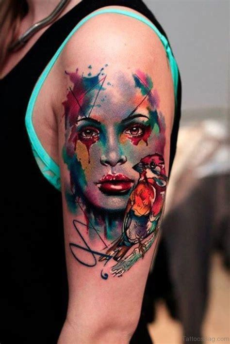 gorgeous mask tattoos  shoulder