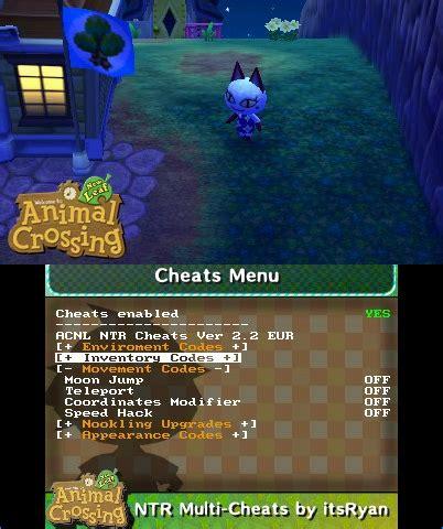 release animal crossing  leaf multi cheat ntr plugin