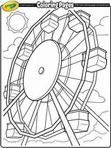 Coloring Wheel Fair Ferris Crayola County Printable Roller Spring Coaster Steering Sheets Theme Coming Carnival Drawing Celebrate Soon Wheels Simple sketch template