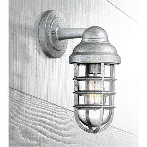 urban barn 13 quot high galvanized outdoor wall light 4m534