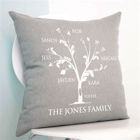 personalised cusion personalised family tree cushion by a type of design