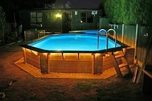 Eclairage Exterieur Piscine : le piscine hors sol en bois 50 mod les ~ Premium-room.com Idées de Décoration