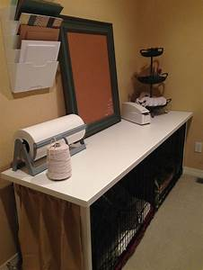 105 best images about dog crate bed ideas to make on With dog crate desk
