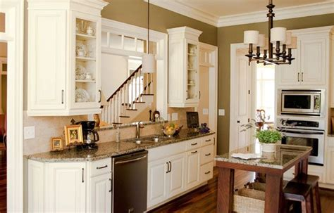executive painted cream latte kitchen cabinets home