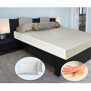 cradlesoft king size 6quot memory foam mattress with bonus With cheap king pillows