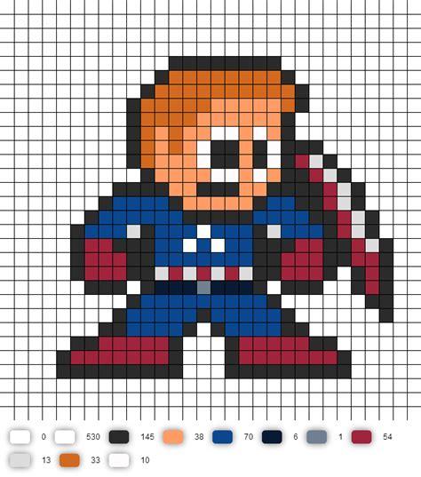 Télécharger photo de captain america en pixel