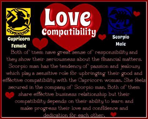 Love Compatibility Capricorn Female & Scorpio Male