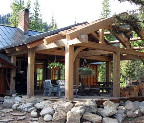 house on lot 2b covered timber frame patio moose creek e