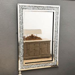 gatsby crystal framed mirror   cm exclusive mirrors