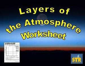Layers Of The Atmosphere Worksheet By Science Teacher