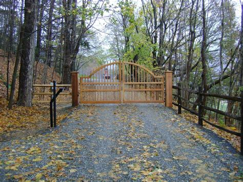 driveway gates driveway gate and garden arbor news from new england woodworks