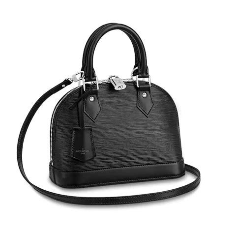 louis vuitton lv women alma bb handbag  epi leather lulux