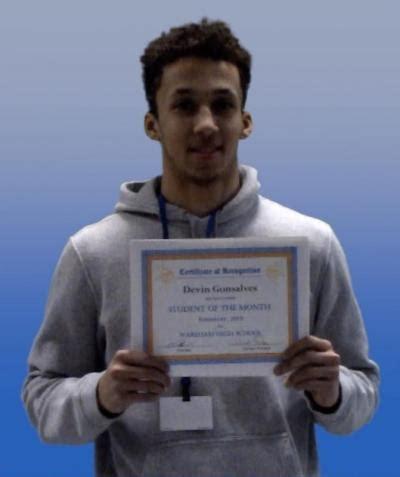 wareham high school names student month scotty award winner