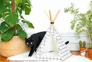 Tipi Pour Chat : diy mon tipi pour chat mademoiselle claudine le blog ~ Teatrodelosmanantiales.com Idées de Décoration