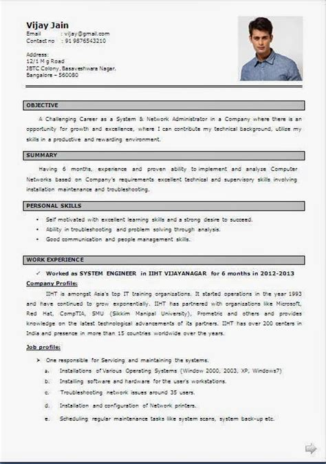 Cv Francais Simple by Model Cv Word En Francais Curriculum Vitae Francais
