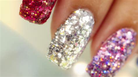 Nail Art With Glitter : Full Nail Glitter