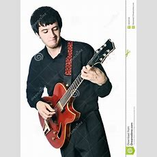 Guitarist Electric Guitar Playing Isolated Royalty Free Stock Photos  Image 16250158