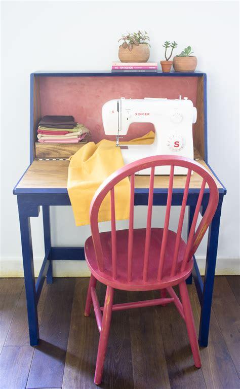 como hacer una mesa  la maquina de coser decoracion
