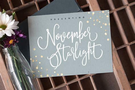 november starlight font script fonts creative market