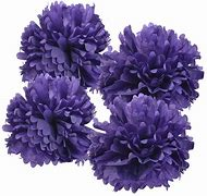 Pom Poms - Purple, Multicolor