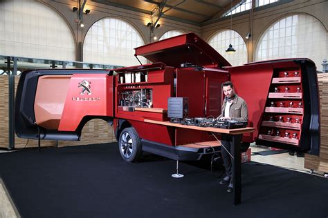 cuisine style bistrot peugeot food truck burger vans reimagined by the