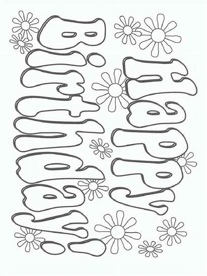 Coloring Birthday Happy Pages Printable Bright Choose