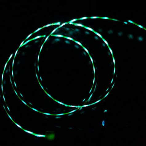 Sync Lights by Flowing Led Light Micro Usb Data Sync Charger Cable