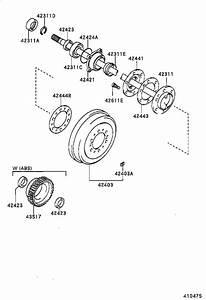 1996 Toyota Tacoma Case  Rear Axle Bearing  Rear Axle
