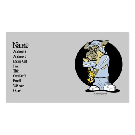 Buy an at hop key tag; Hip Hop Pug Urban Business Cards   Zazzle