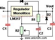 lm regulador de voltaje variable electronica unicrom