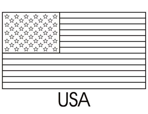 flag   united states  america coloring page
